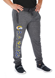 Los Angeles Rams Zubaz French Terry Jogger Sweatpants - Grey