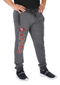 San Francisco 49ers Zubaz French Terry Jogger Sweatpants - Grey