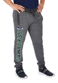 Seattle Seahawks Zubaz French Terry Jogger Sweatpants - Grey