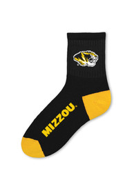 Missouri Tigers TC Logo Name Quarter Socks - Black