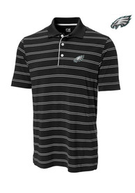 Philadelphia Eagles Cutter and Buck Hawthorne Polo Shirt - Black
