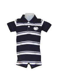 Penn State Nittany Lions Baby Navy Blue Parker Polo One Piece