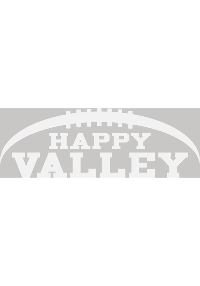 Penn State Nittany Lions 4x7 White Happy Valley Auto Decal - White