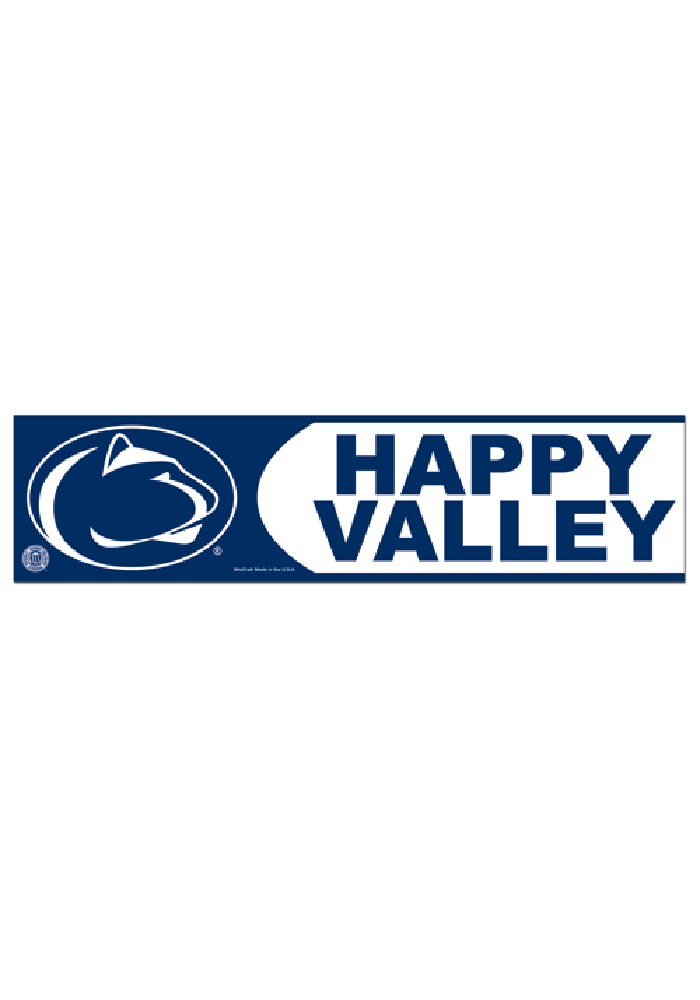 Penn State Nittany Lions 3x12 Auto Bumper Sticker - Image 1