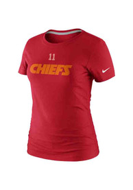 340a35c5 Alex Smith Nike Kansas City Chiefs Womens Red Name and Number Player Tee