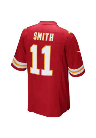 Alex Smith Nike KC Chiefs Mens Red Game Jersey