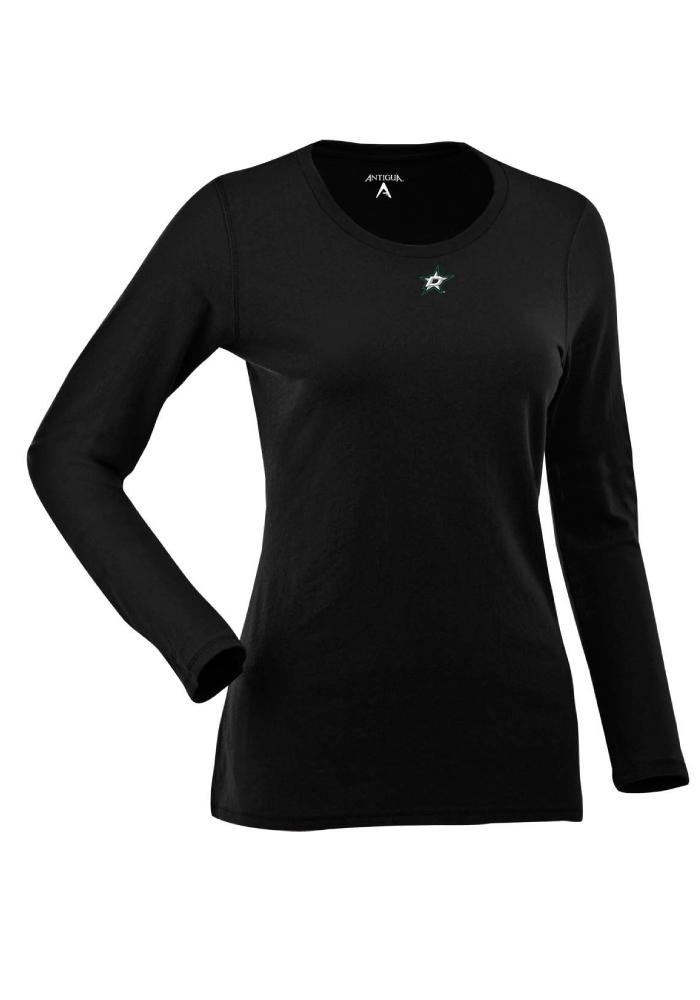 Antigua Dallas Stars Womens Black Relax Long Sleeve Women's Scoop - Image 1