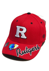 Top of the World Rutgers Scarlet Knights Mens Red Top Notch Flex Hat