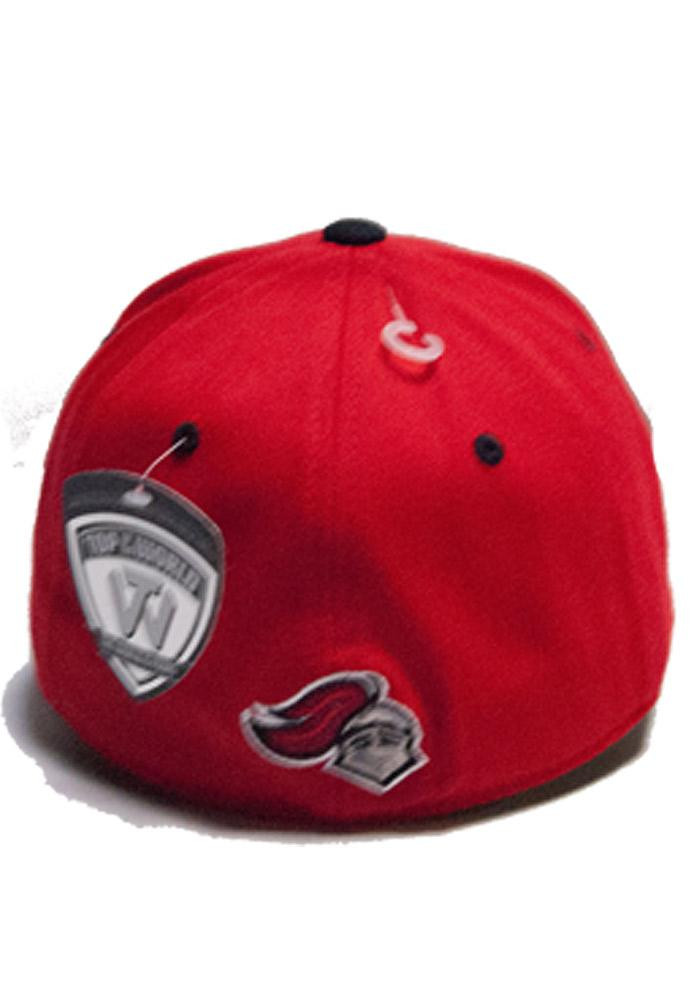 Top of the World Rutgers Scarlet Knights Mens Red Top Notch Flex Hat - Image 2