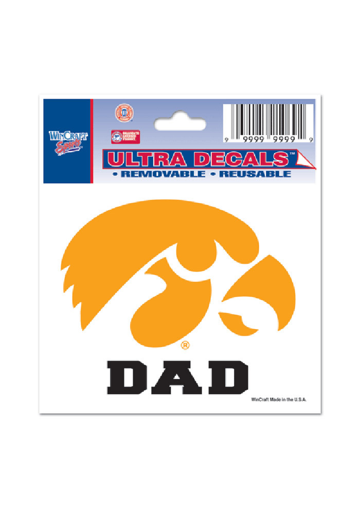 Iowa Hawkeyes 3x4 Dad Decal - Image 1
