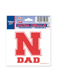 Nebraska Cornhuskers 3x4 Dad Auto Decal - Red
