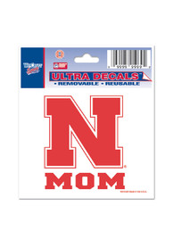 Nebraska Cornhuskers 3x4 Mom Auto Decal - Red