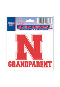 Nebraska Cornhuskers 3x4 Grandparent Auto Decal - Red