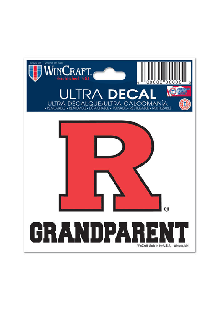 Rutgers Scarlet Knights 3x4 Grandparent Decal - Image 1