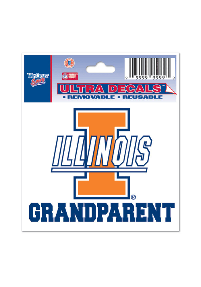Illinois Fighting Illini 3x4 Grandparent Decal - Image 1