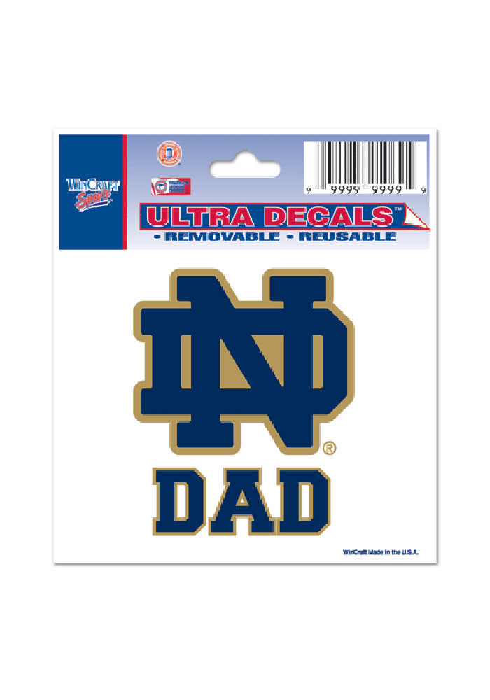 Notre Dame Fighting Irish 3x4 Dad Decal - Image 1
