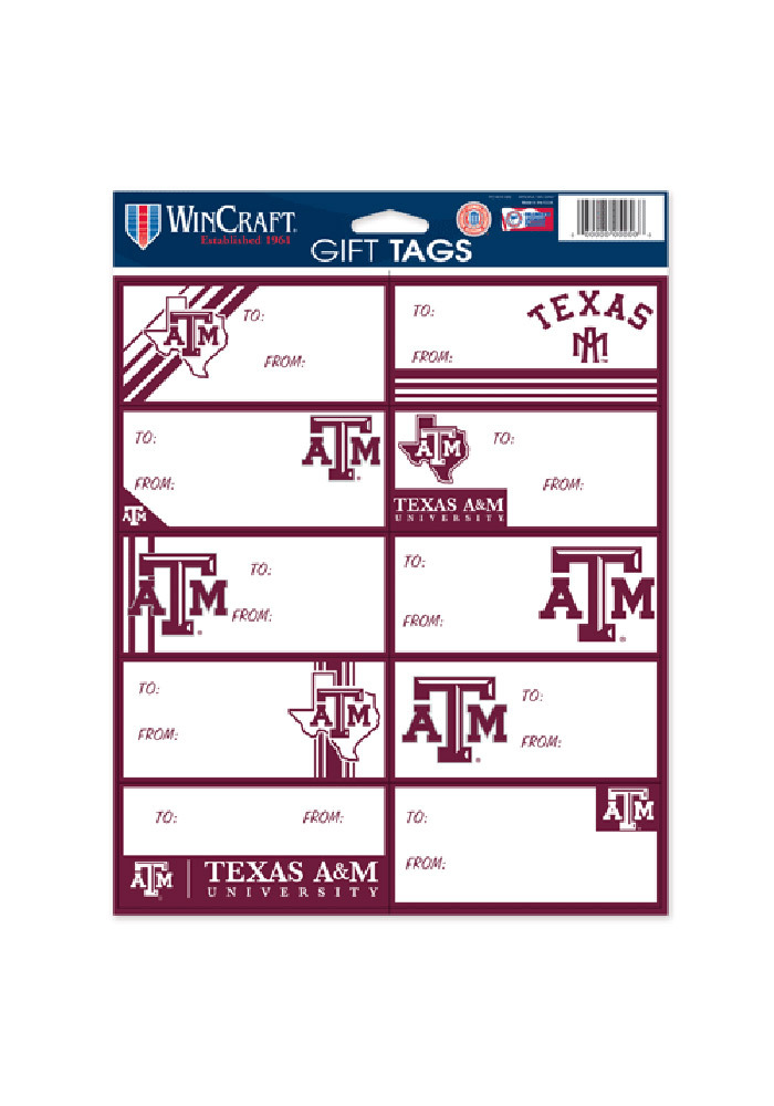 Texas A&M Aggies Logo Gift Tags - Image 1