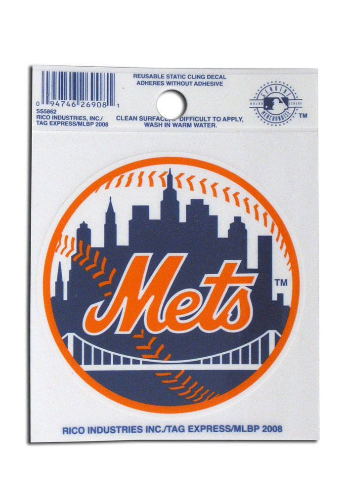New York Mets Small Auto Static Cling - Image 1