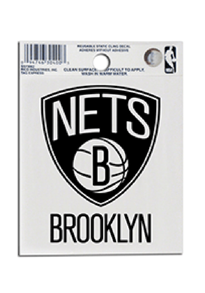 Brooklyn Nets Small Auto Static Cling - Image 1