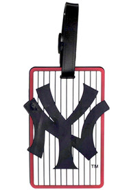 New York Yankees Rubber Luggage Tag - White