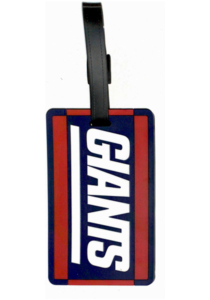 New York Giants Blue Rubber Luggage Tag - Image 1