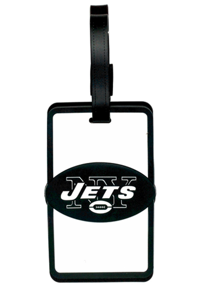 New York Jets White Rubber Luggage Tag - Image 1