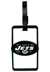 New York Jets Rubber Luggage Tag - White