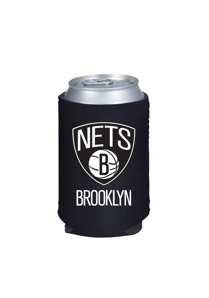 Brooklyn Nets Black Can Koozie - Image 1