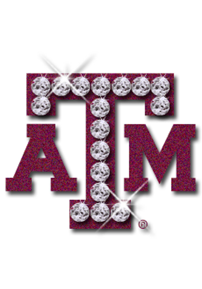Texas A&M Aggies Glitter and Rhinestone Tattoo - Image 1