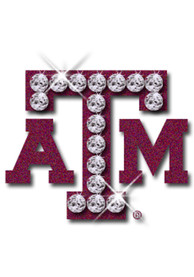 Texas A&M Aggies Glitter and Rhinestone Tattoo