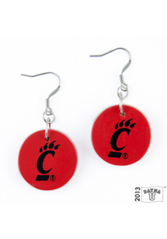 Cincinnati Bearcats Small Circle Womens Earrings - Image 2