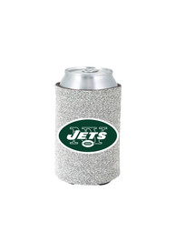 New York Jets Silver Glitter Can Coolie