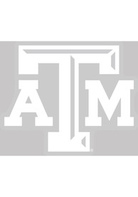Texas A&M Aggies 4x5 White Logo Auto Decal - White