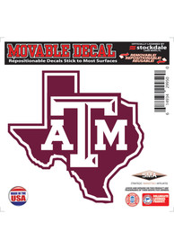 Texas A&M Aggies 6x6 Texas Shaped AM logo Auto Decal - Maroon