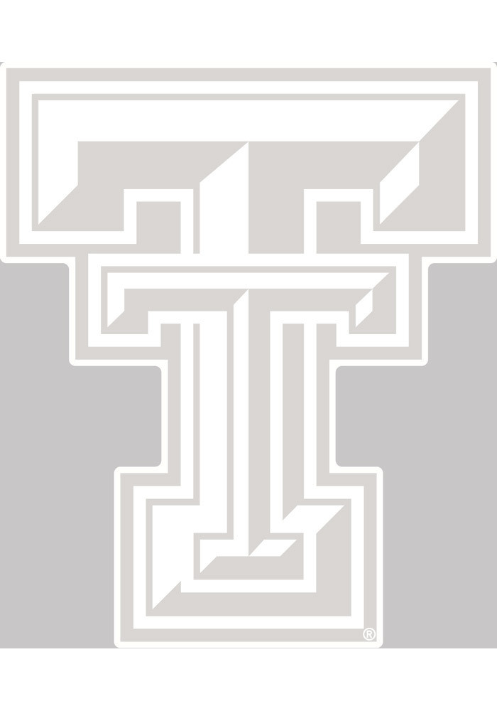 Texas Tech Red Raiders 4x5 White Logo Decal - Image 1