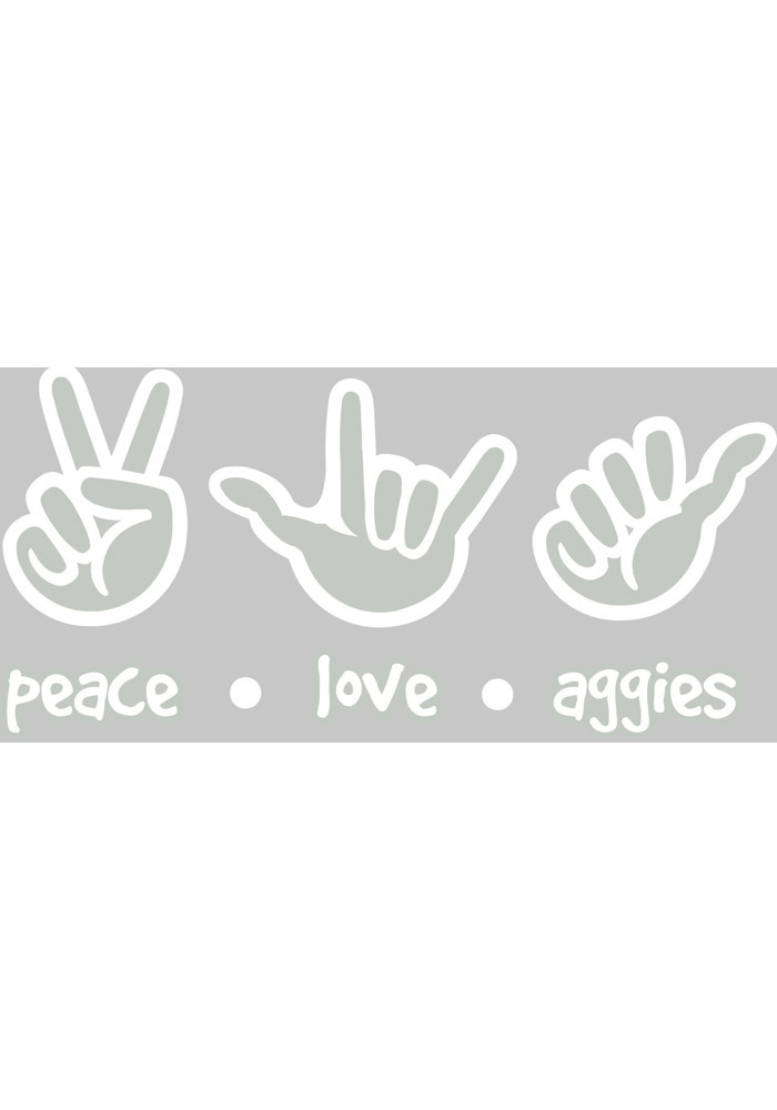 Texas A&M Aggies 4x7 Hand Sign Auto Decal - White - Image 1