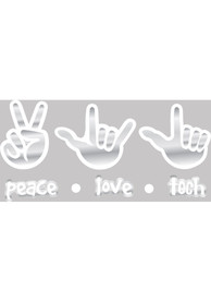 Texas Tech Red Raiders 4x7 Hand Sign Auto Decal - White