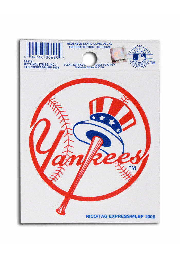 New York Yankees Small Auto Static Cling - Image 1
