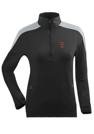 Texas Tech Red Raiders Womens Succeed Black 1/4 Zip Pullover