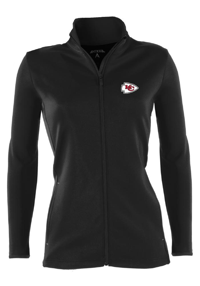 Antigua Kansas City Chiefs Womens Black Leader Medium Weight Jacket - Image 1