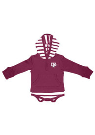 Texas A&M Aggies Baby Maroon Stripe One Piece