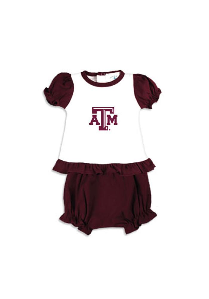 Texas A&M Aggies Baby Maroon Bloomer Set Bloomer - Image 1
