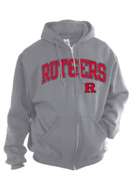 Rutgers Scarlet Knights Youth Grey Arch Mascot Full Zip Jacket