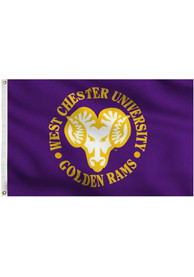 West Chester Golden Rams 3x5 Purple Grommet Purple Silk Screen Grommet Flag