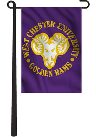 West Chester Golden Rams 13x18 Purple Garden Flag