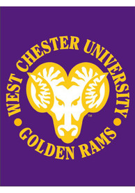 West Chester Golden Rams 30x40 Purple Silk Screen Banner