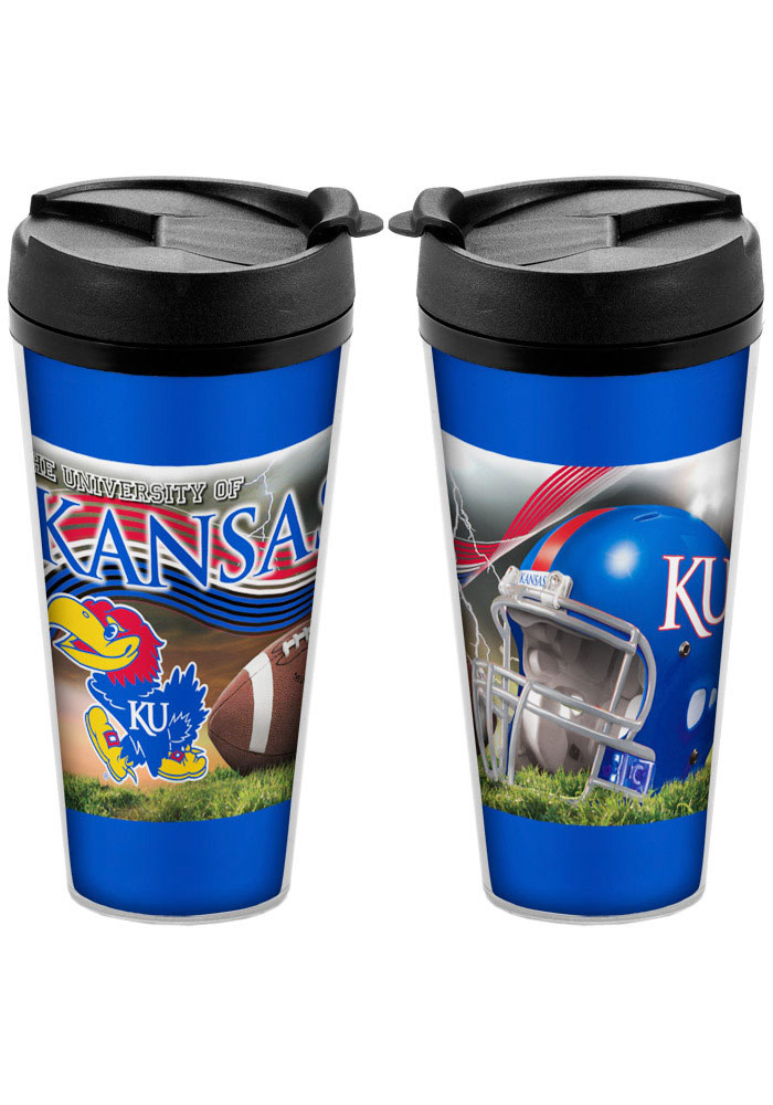 Kansas Jayhawks Stadium Voyager Travel Mug