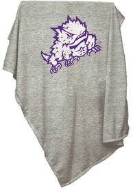 TCU Horned Frogs Embroidered Team Logo Sweatshirt Blanket