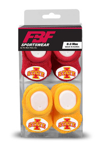 Iowa State Cyclones Baby 2pk Knit Bootie Boxed Set - Cardinal
