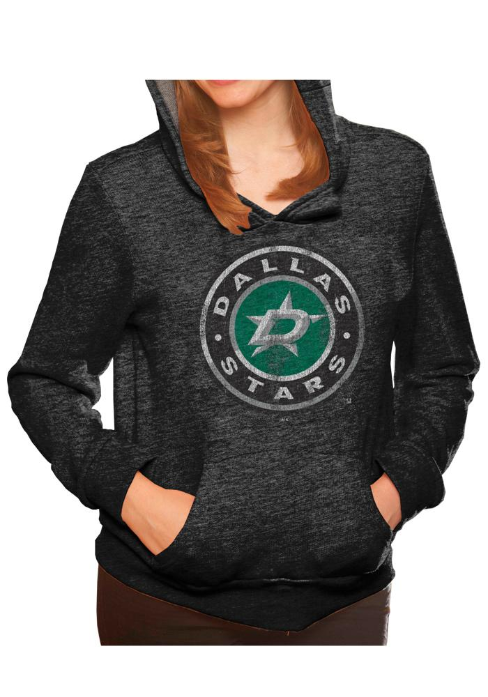 Original Retro Brand Dallas Stars Womens Black Tri-Blend Hooded Sweatshirt - Image 1